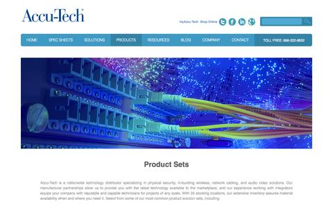 Screenshot of Products Page accu-tech.com - Structured Cabling / Voice & Data-Products - captured Sept. 19, 2014