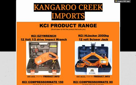 Screenshot of Products Page kcimports.com.au - Our Products - captured Sept. 24, 2016