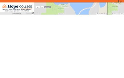 Screenshot of Maps & Directions Page hope.edu - Hope College Interactive Campus Map and Virtual Tour - captured July 15, 2017