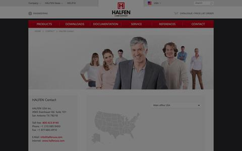 Screenshot of Contact Page halfen.com - HALFEN - HALFEN Contact - CONTACT - captured Oct. 25, 2018