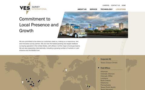 Screenshot of Locations Page vessurvey.com - Locations | VES Survey International - captured Oct. 26, 2014
