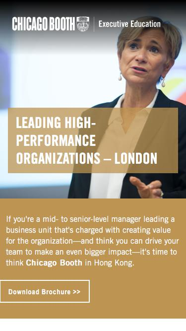 Executive Education at Chicago Booth | Leading High-Performance Organizations – London