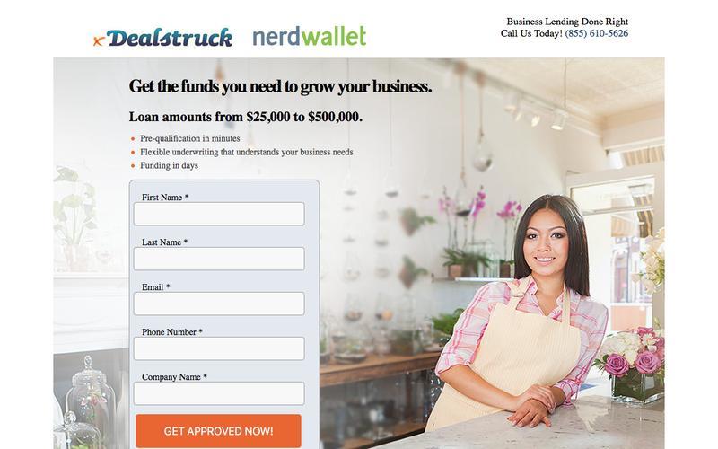 NerdWallet - Request Business Loan Information | Dealstruck