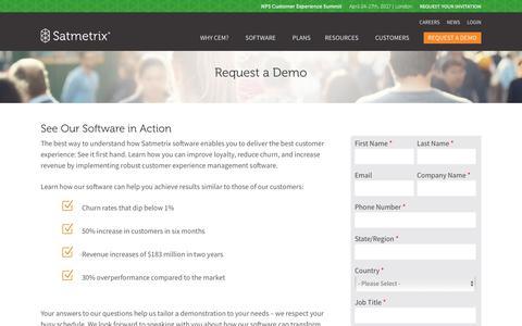 Request a Personalized CEM Demo - Satmetrix