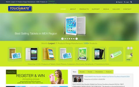 Screenshot of Home Page touchmate.net - TOUCHMATE | Official Website - captured Sept. 19, 2014