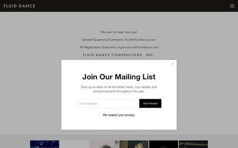 Screenshot of Contact Page fluiddance.com - Contact Us— Fluid Dance - captured Oct. 10, 2018