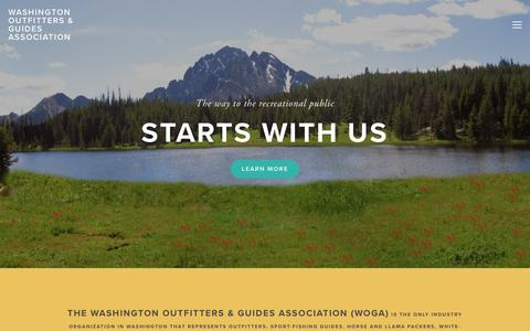 Screenshot of Home Page woga.org - Washington Outfitters & Guides Association - captured Jan. 27, 2018