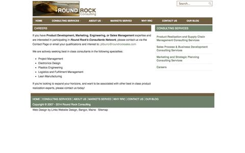 Screenshot of Jobs Page roundrockconsulting.com - Careers - Consulting Services - Round Rock Consulting - captured Oct. 7, 2014