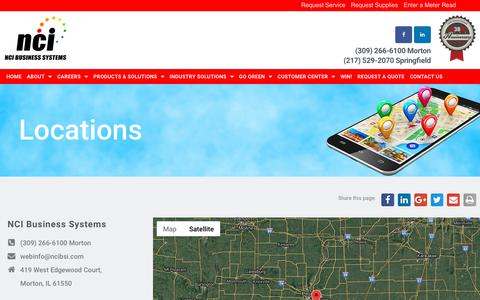 Screenshot of Locations Page ncibsi.com - D - Locations - NCI Business Systems - captured Nov. 15, 2018