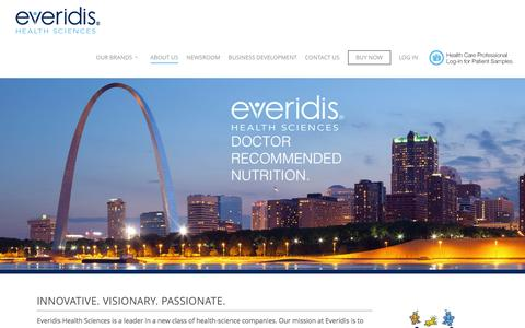 Screenshot of About Page everidis.com - About Everidis - Everidis - captured Nov. 12, 2016