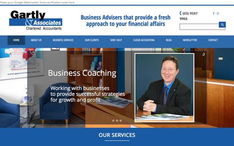 Screenshot of Home Page ggassociates.com.au - Gartly & Associates Pty Ltd - Chartered Accountants - captured Jan. 26, 2016