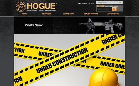 Screenshot of Press Page hogueinc.com - What's New?   Hogue Inc. - captured Oct. 28, 2014