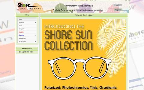 Screenshot of Home Page shorelens247.com - Shore Lens Company - Home Page - captured Oct. 27, 2017