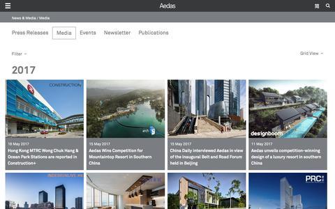Screenshot of Press Page aedas.com - Media | Aedas - captured May 29, 2017
