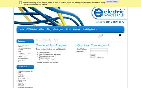 Screenshot of Login Page mybigcommerce.com - Electric Wholesale Ltd - Sign in - captured Sept. 18, 2014