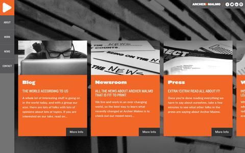 Screenshot of Press Page archermalmo.com - News | Archer Malmo | Full Service Advertising, Digital and PR Agency - captured Jan. 21, 2016
