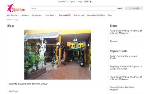 Screenshot of Blog giftpiper.com - Blogs - captured July 19, 2018