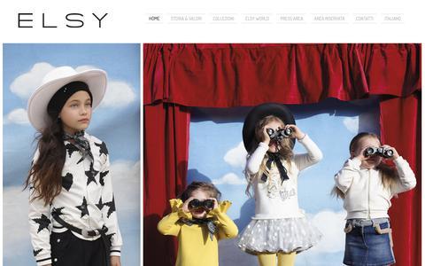 Screenshot of Home Page elsyspa.com - Elsy Spa | Produzione e vendita abbigliamento bambina - captured Nov. 4, 2018