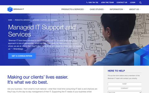 Screenshot of brennanit.com.au - IT Support   IT Services   Sydney, Melbourne, Brisbane   Brennan IT - captured Oct. 3, 2017
