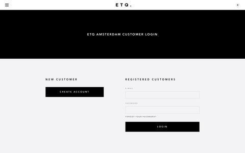 Screenshot of Login Page etq-amsterdam.com - My Account - ETQ Amsterdam - captured Dec. 4, 2016