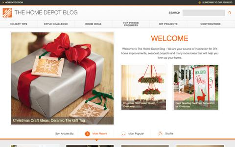 Screenshot of Blog homedepot.com - The Home Depot - captured Dec. 4, 2015