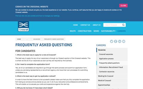 Screenshot of FAQ Page crossrail.co.uk - Frequently asked questions - Crossrail - captured Oct. 16, 2016