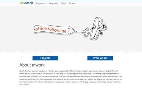 Screenshot of Home Page atwork-it.com - About atwork - atwork information technology gmbh - captured Jan. 29, 2017