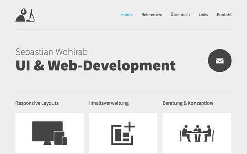 Screenshot of Home Page sebastianwohlrab.de - Sebastian Wohlrab - UI & Web-Development - captured Oct. 6, 2014