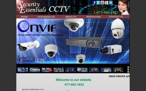 Screenshot of Home Page securityessentialscctv.com - Security Essentials CCTV - captured Sept. 30, 2014