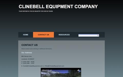 Screenshot of Contact Page clinebellequipment.com - Contact Us – Clinebell Equipment Company - captured Dec. 31, 2016