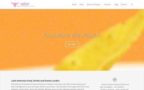 Screenshot of Home Page sabor.co.uk - Sabor   Latin American Taste - captured Oct. 4, 2014