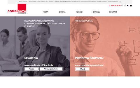 Screenshot of Home Page profirma.com.pl - combidata.pl: Combidata : Szkolenia : Szkolenia IT : Doradztwo : Zarządzanie procesami HR: elearning - captured Oct. 12, 2015