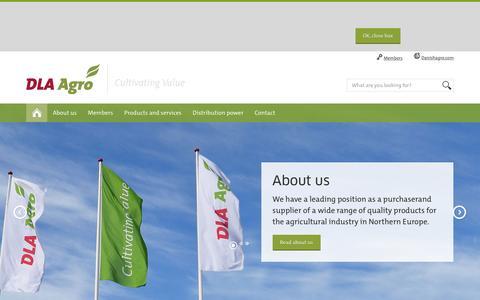 Screenshot of Home Page dlaagro.com - Danish Agro | DLA Agro - captured Jan. 7, 2016