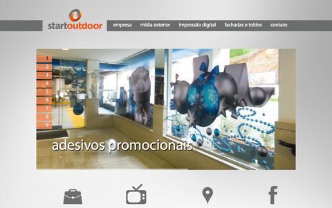 Screenshot of Home Page startoutdoor.com.br - Start Outdoor - captured Oct. 9, 2014