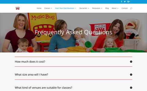 Screenshot of FAQ Page musicbus.com - Frequently Asked Questions - Music Bus - captured June 18, 2017
