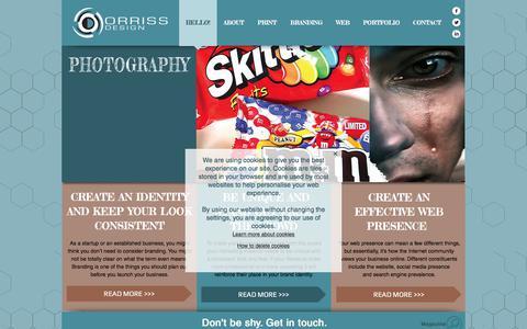 Screenshot of Home Page orriss-design.co.uk - Orriss Design   Freelance Graphic Designer   Bristol - captured June 13, 2017