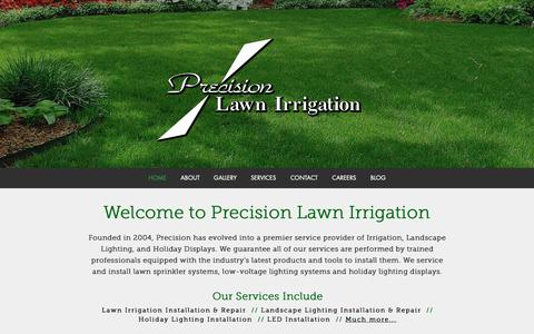 Screenshot of Home Page precisionlawnirrigation.net - Precision Lawn Irrigation | Home - captured Sept. 29, 2018