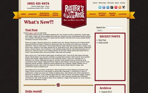 Screenshot of Blog rustlersrooste.com - What's New?! - What's New at the Rooste! - captured Oct. 7, 2014