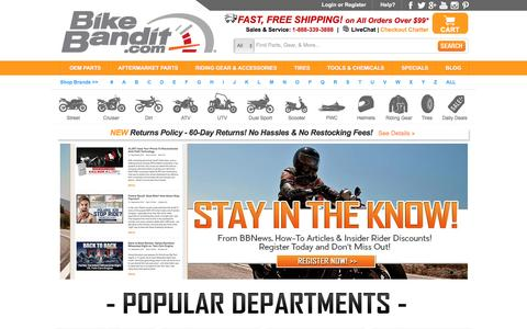 BikeBandit.com: The Best Motorcycle Parts Store Online for OEM, Aftermarket, Riding Gear & Accessories