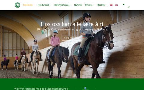Screenshot of Home Page rideskole.no - Ridekurs hos EKT Rideskole. Meld deg på venteliste - captured Oct. 25, 2018