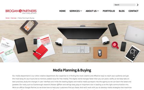 Screenshot of Press Page brogan.com - Media Planning & Buying | Brogan & Partners Convergence Marketing - captured Oct. 11, 2017