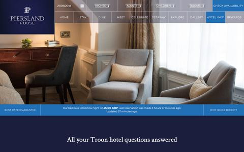 Screenshot of FAQ Page piersland.co.uk - Troon hotel guide | 4 star country house hotels in Troon | Troon Ayrshire hotels with free wi fi and parking - captured Sept. 28, 2018