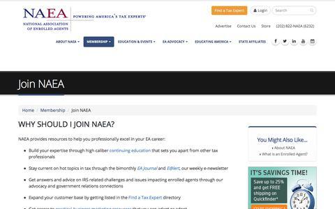 Screenshot of Signup Page naea.org - Join NAEA | NAEA - captured July 10, 2017