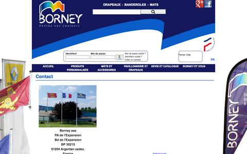 Screenshot of Contact Page borney.fr - Contact - captured Oct. 4, 2014