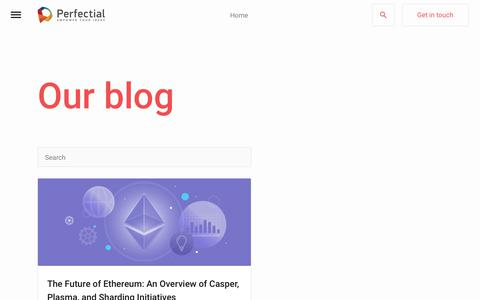 Screenshot of Blog perfectial.com - Blog Archive - Perfectial - captured July 15, 2018