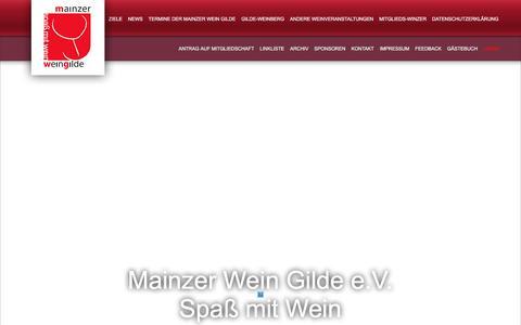 Screenshot of Login Page mainzer-wein-gilde.de - Login - MAINZER WEIN GILDE - captured June 27, 2018