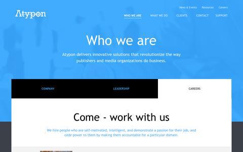 Screenshot of Jobs Page atypon.com - Atypon - captured Oct. 29, 2014