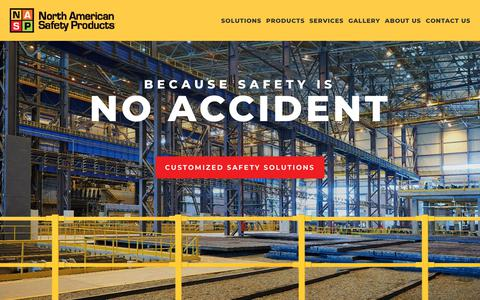 Screenshot of Home Page naspinc.com - North American Safety Products - captured Nov. 15, 2018