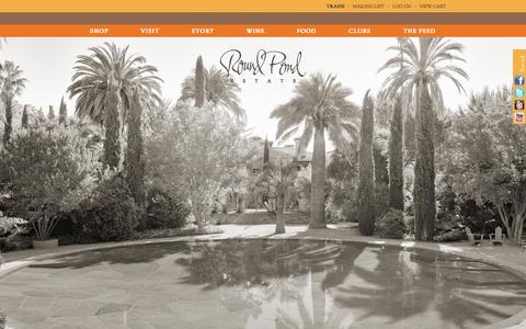 Screenshot of Home Page roundpond.com - Home :  Round Pond Estate - captured Oct. 9, 2014