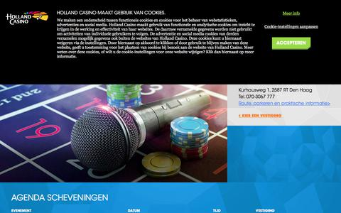 Screenshot of hollandcasino.nl - Agenda - Scheveningen - Holland Casino - captured Dec. 1, 2017